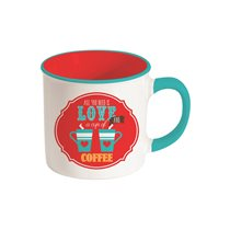 "Nuova R2S porcelán bögre 300 ml ""All you need is love and Coffee"""