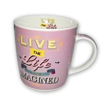 "Nuova R2S porceláncsésze 350ml ""Live the life..."""