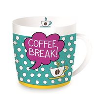 "Porcelán bögre 350 ml ""Coffee Break"" - Nuova R2S"
